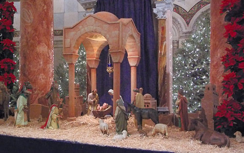 Cathedral Basilica of Saint Louis, in Saint Louis, Missouri, USA - Christmas manger scene