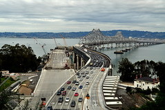 Bay Bridge S Curve (kpmarek) Tags: sanfrancisco california road bridge island oakland construction highway traffic freeway baybridge bayarea sanfranciscobay i80 curve yerbabuena bypass scurve baybridgebypass