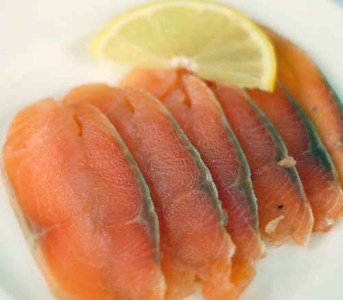 simply cured salmon