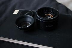 nifty (Ashley R. Good) Tags: broken canon lens dead 50mm crap f18 cheap kaput broke shoddy