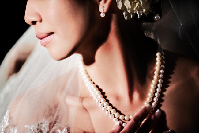 Pasadena twin palms wedding bridal portrait
