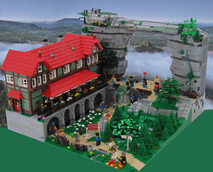 Pravcice gate and Falcon Nest from Lego (Tacvud) Tags: from lego creation own my