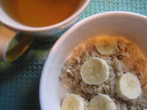 oatmeal and green tea