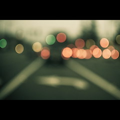 Life In The Bokeh Lane (Eric M Martin) Tags: road cars 35mm nikon dof traffic bokeh outoffocus explore commute 365 oof roseville wideopen turnlane d90 project365 explored nikond90 35mmf18g 365201001
