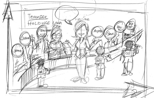 group lady caricatures for Morgan Stanley - draft 3