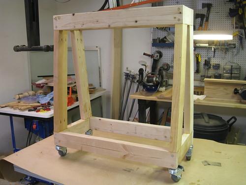 rebuilt lathe stand legs