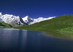 rush lake (4740 meters) highest lake in pakistan (TARIQ HAMEED SULEMANI) Tags: pakistan mountains tourism nature trekking scenery hiking north lakes scene kkh tariq nagar northernpakistan rushlake concordians sulemani