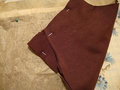 sewed on extra fabric