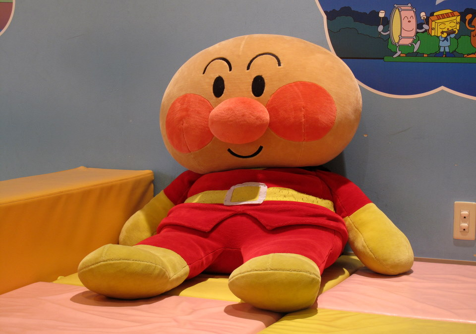 Anpanman sitting waiting to play with the kids.