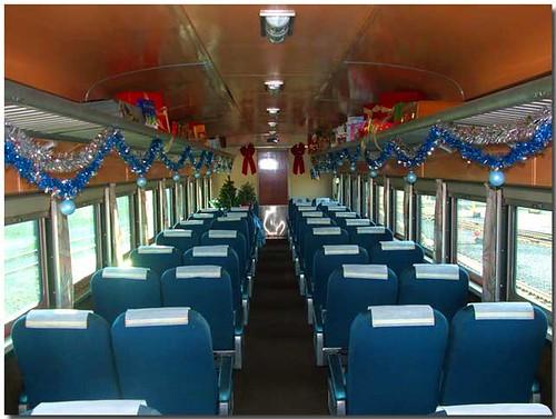 Private Rail Car - Amber Trail, coach at Christmas