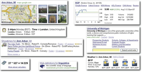 Google's structured results