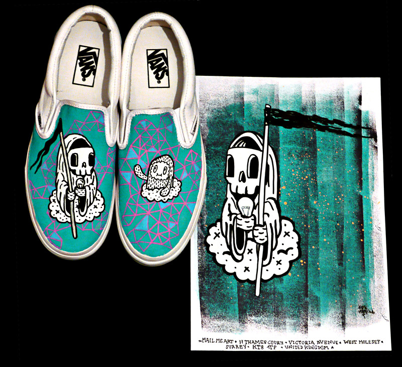 bab72911d1 custom vans    mailmeart - death of the electric bulb (timrobot) Tags
