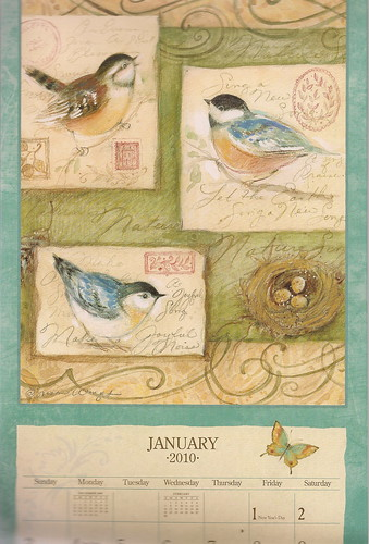 January Lang Calendar Page