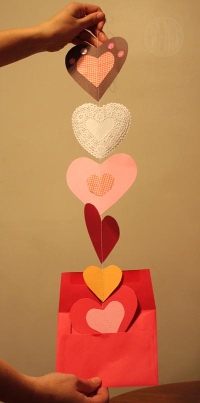 Dangling Garland Valentines!