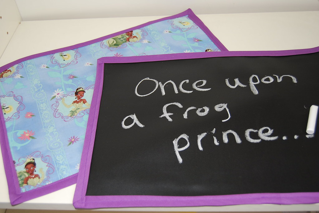 Frog Princess Chalkboard PLacemat