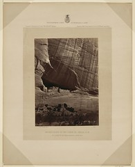 Ancient ruins in the Cañon de Chelle, N.M.  In a niche 50 feet above present cañon bed (LOC)