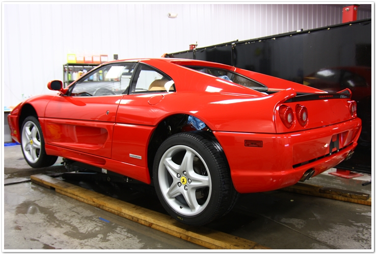 Ferrari 355 GTS washed and cleaned
