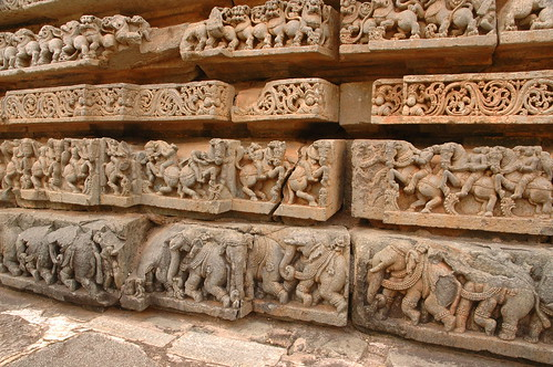 Temple carvings -Belur, Karnatika, India