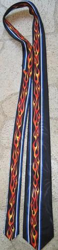 Flames necktie