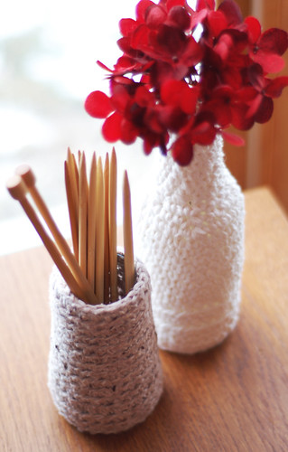 002 - Crocheted Vases