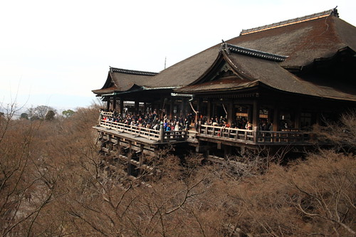 The famous Kiyomizu temple stage