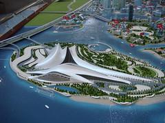 Dubai Opera House (aechul) Tags: house model opera dubai zaha hadid