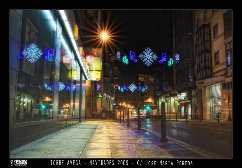 Torrelavega - Calle José María de Pereda - Navidades 2009