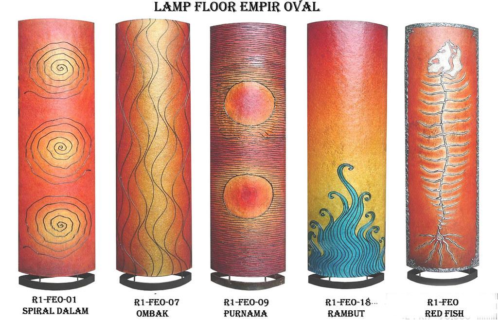 lamp floor empir oval