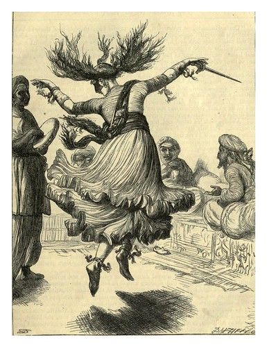 025-Morgania baila ante Houssein-T. Daziel-Dalziel's Illustrated Arabian nights' entertainments (1865)
