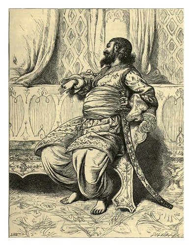 009-El Califa mirando a traves de la ventana- T. Dalziel-Dalziel's Illustrated Arabian nights' entertainments (1865)