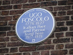 Photo of Ugo Foscolo blue plaque