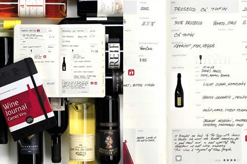 Moleskine wijn