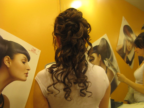 wedding hair half up with headband