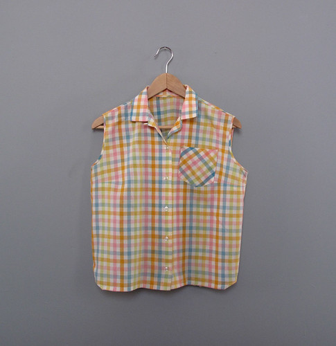 vtg plaid top