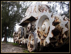 Beach Road Tank (Saipan Pictures) Tags: world ocean old soldier army island japanese war tank pacific wwii rusty battle historic tropical ww2 battlefield tropics artifacts saipan marianas cnmi northernmarianaislands