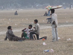 Snacking in the Maidan - Kolkata, India