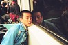 Fast asleep on the Taipei metro (deepstoat) Tags: colour film zeiss 35mm metro tube taiwan asleep contaxg2 kodakportra deepstoat