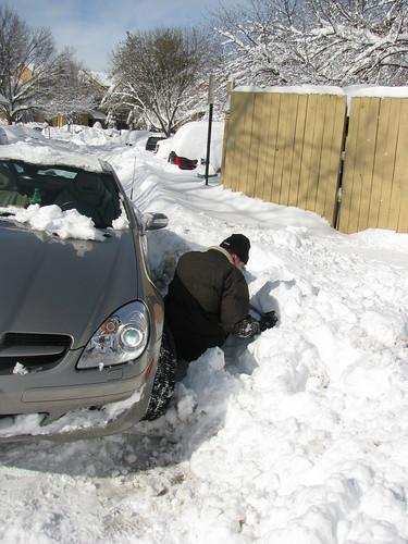 Stuck Mercedes
