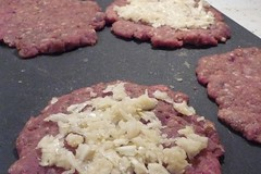 Preparing Garlic Burger Patties