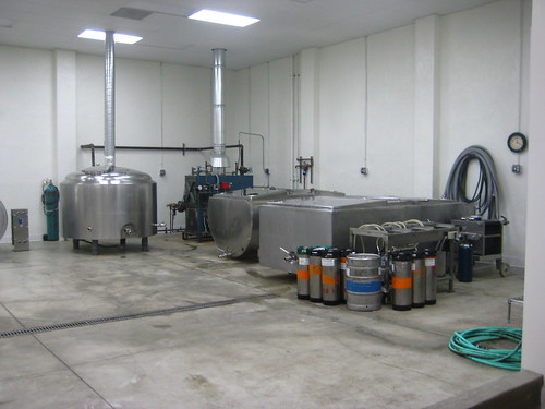 Brewing equipment at the Eagle Rock Brewery.