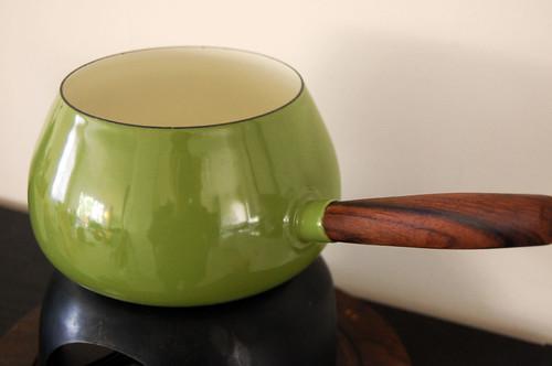 enamelware fondue pot