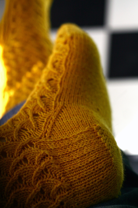 Socks from the bottom