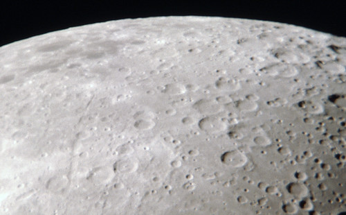 Closeup of Moon Showing Craters