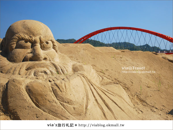 【2010春節旅遊】春節假期~南投市貓羅溪沙雕藝術節8