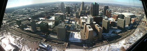 Panorama of St Louis from the Arch