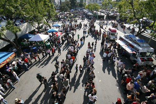 Crowds at LA Street Food Festival