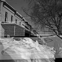 :) (patrickjoust) Tags: street city urban bw usa white house snow black 120 6x6 tlr blancoynegro film home analog america square lens us reflex md nikon focus exposure arms mechanical accident united patrick twin maryland row baltimore double pizza slice 200 worlds diafine medium format 100 pan states manual nikkor avenue joust edu developed ultra hampden largest rowhouse 2010 anthropomorphic develop angelos rowhome estados the foma f35 75mm blancetnoir unidos 36th fomapan arista airesflex schwarzundweiss autaut patrickjoust worldslargestslice