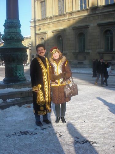 Мы с женой в узбекском наряде