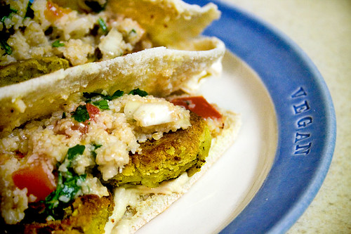 Falafel Sandwich with Classic Tabbouleh