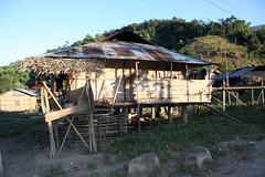 Houses in  the village of Tigu, Arunachal Pradesh (sensaos) Tags: people india house rural asia village native traditional north culture tribal east tribe setting cultural indigenous pradesh arunachal famke noord oost azi stammen daporijo tagin dumporijo sensaos